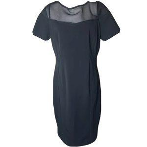 ELIE TAHARI | Black Mesh Sheath Dress 14
